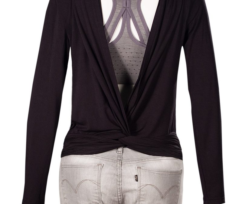 Twisted Open Back Shirt